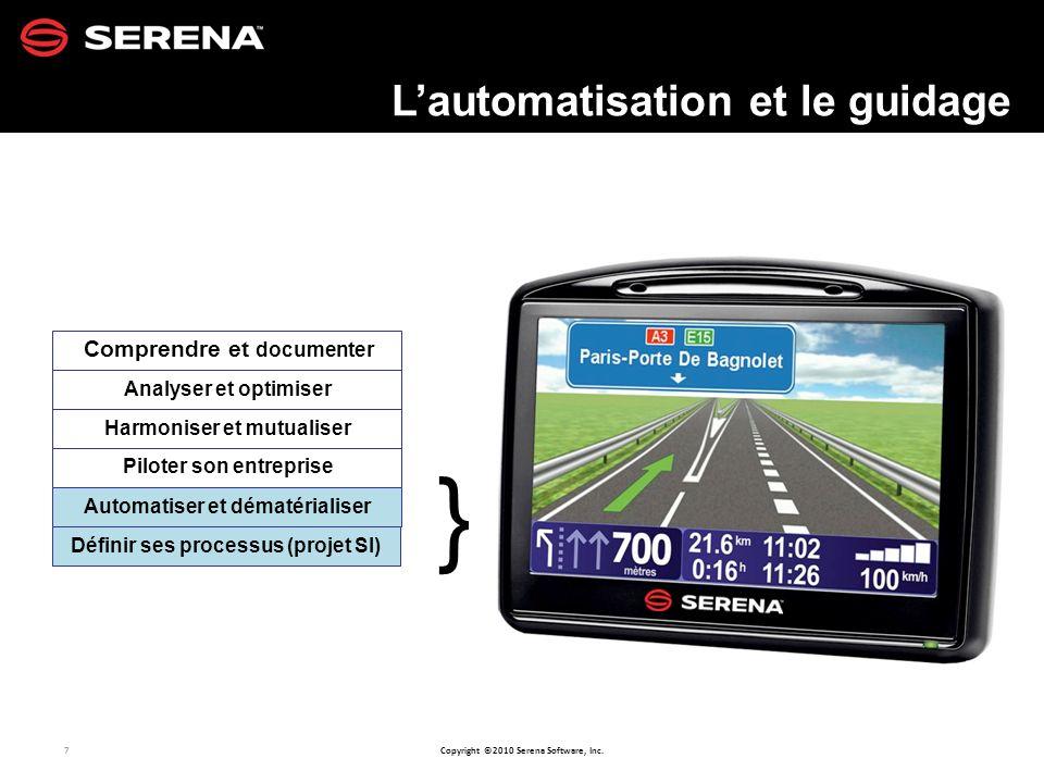 L'automatisation et le guidage