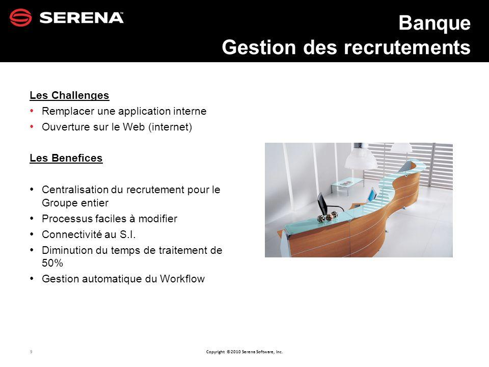 Banque Gestion des recrutements