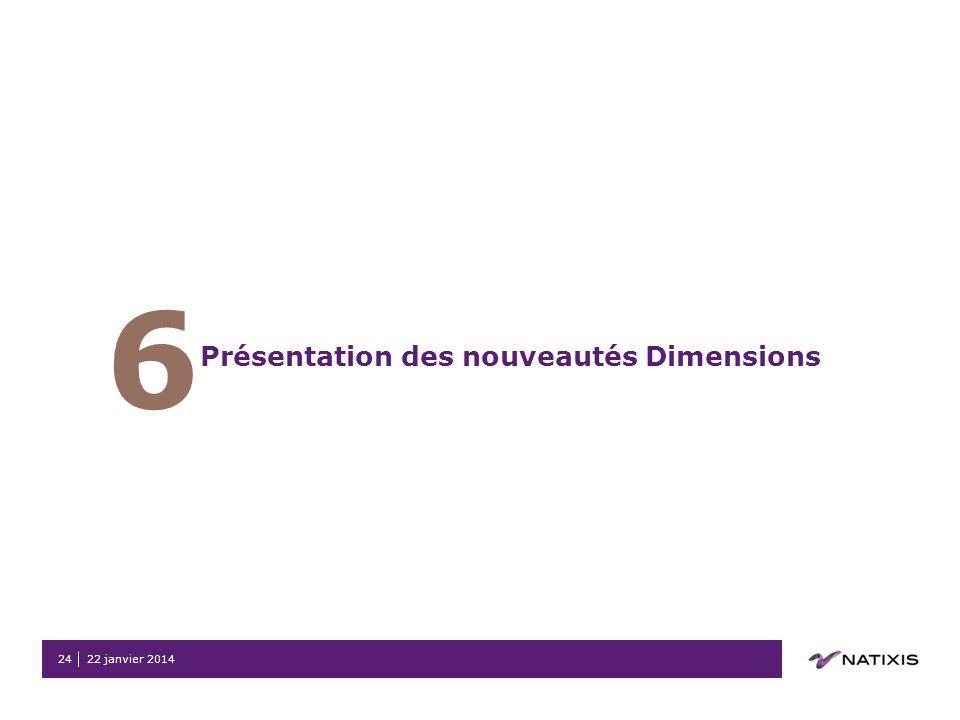 6 Présentation des nouveautés Dimensions 26 mars 2017