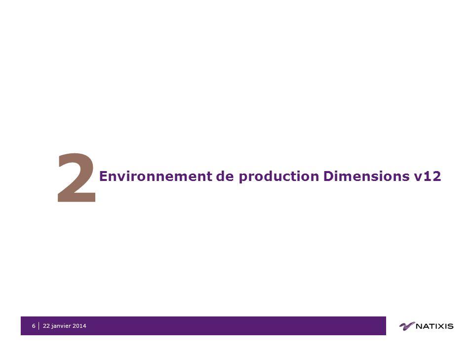 2 Environnement de production Dimensions v12 26 mars 2017
