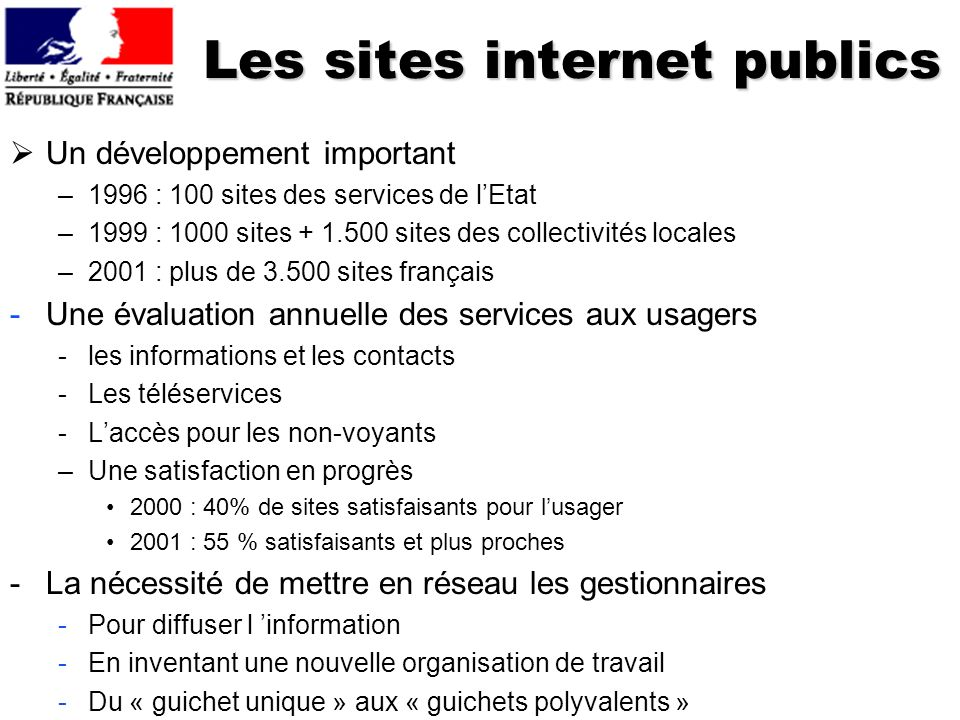 Les sites internet publics