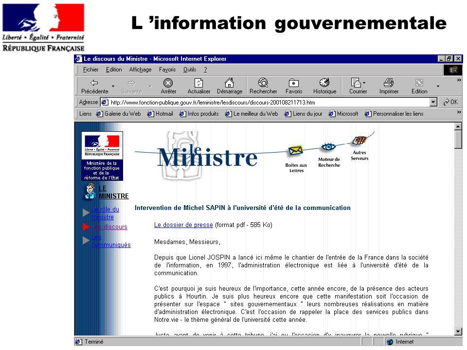L 'information gouvernementale