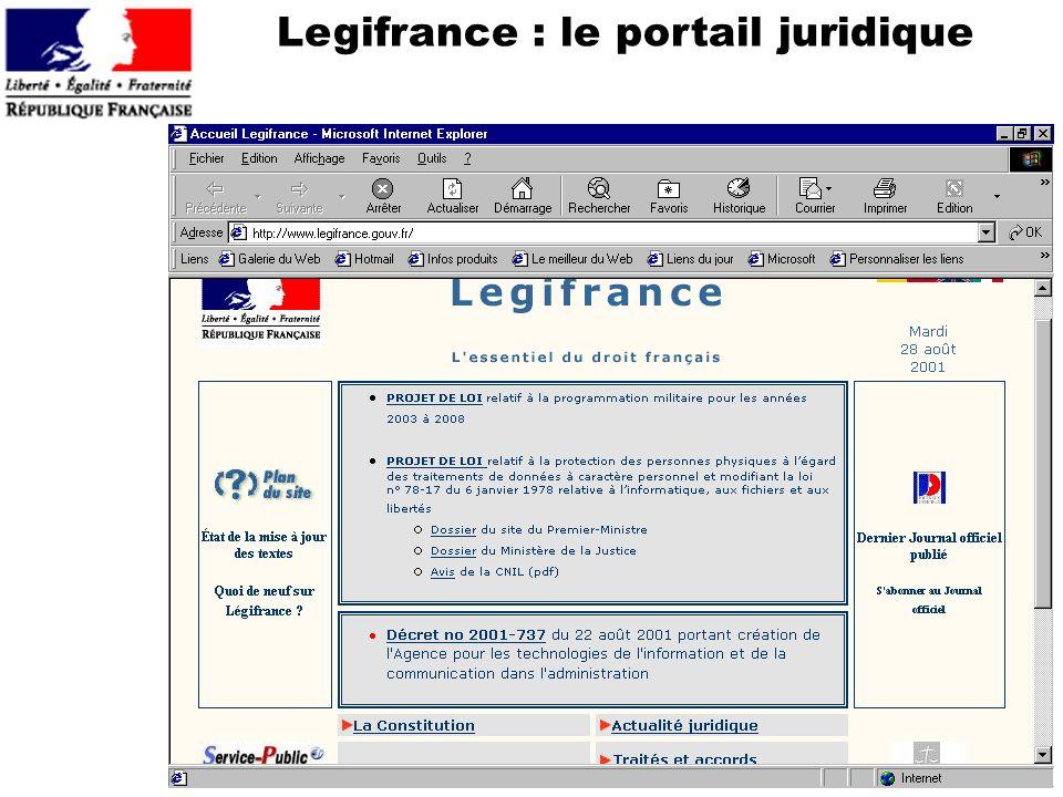 Legifrance : le portail juridique
