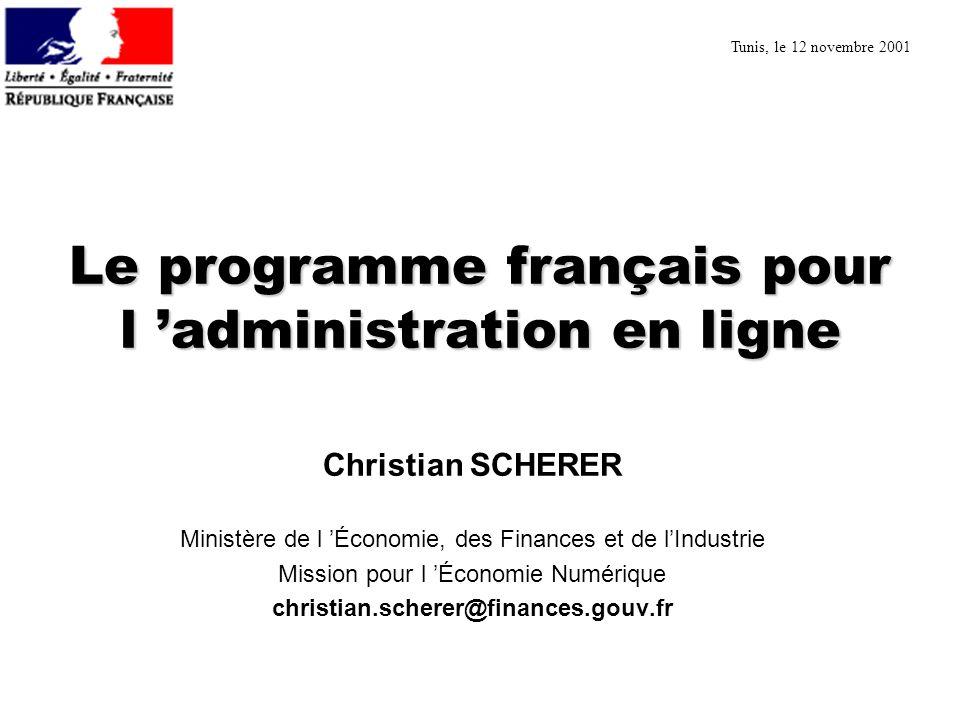 Le programme français pour l 'administration en ligne