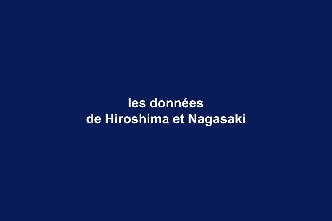 de Hiroshima et Nagasaki