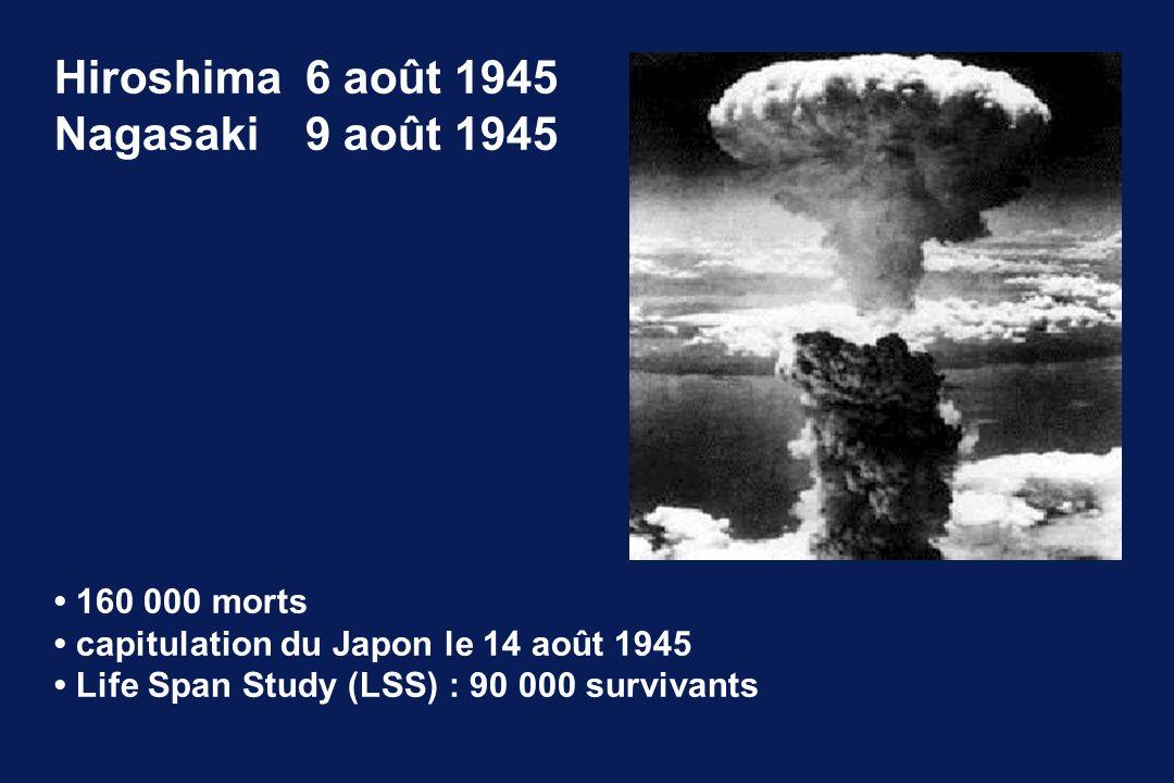 Hiroshima 6 août 1945 Nagasaki 9 août 1945 • 160 000 morts