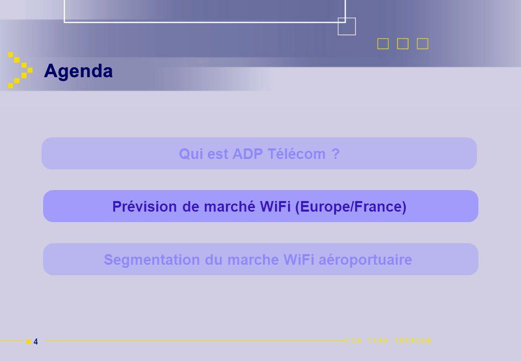 Agenda Agenda Qui est ADP Télécom
