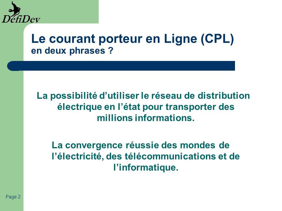 Le courant porteur en Ligne (CPL) en deux phrases