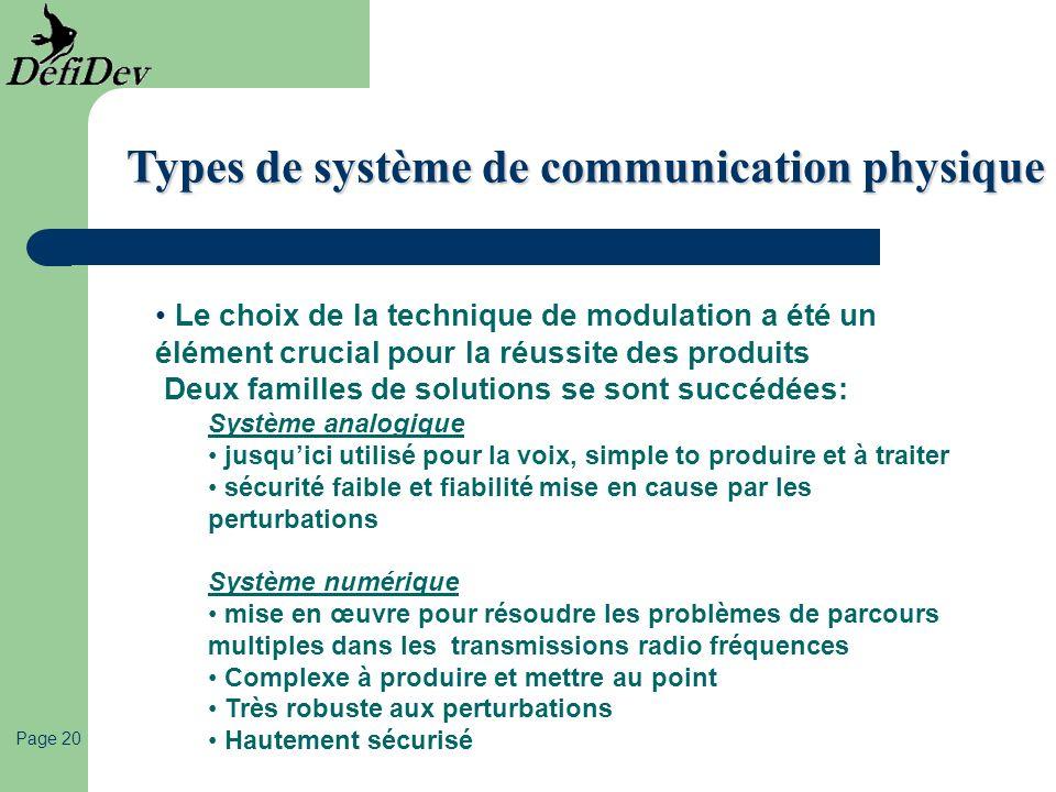Types de système de communication physique