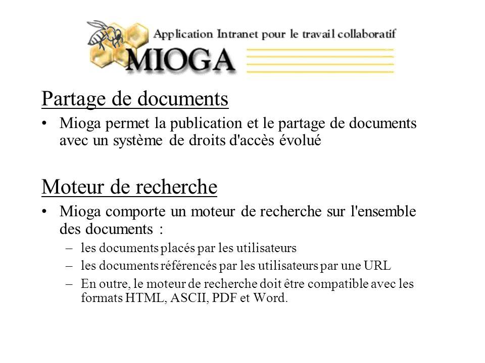 Partage de documents Moteur de recherche