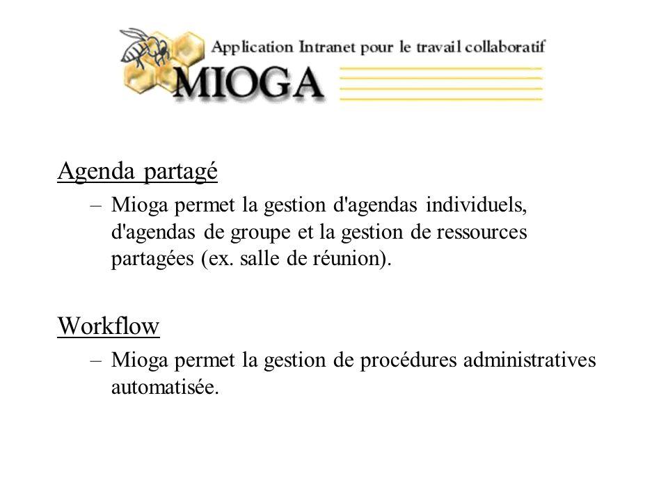 Agenda partagé Workflow