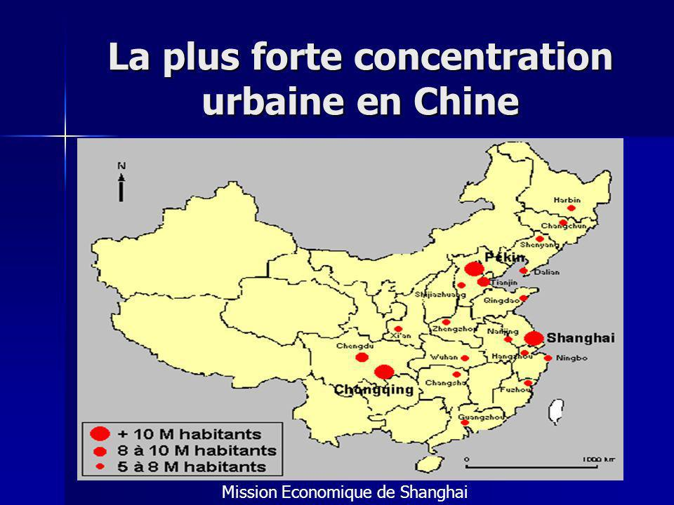 La plus forte concentration urbaine en Chine