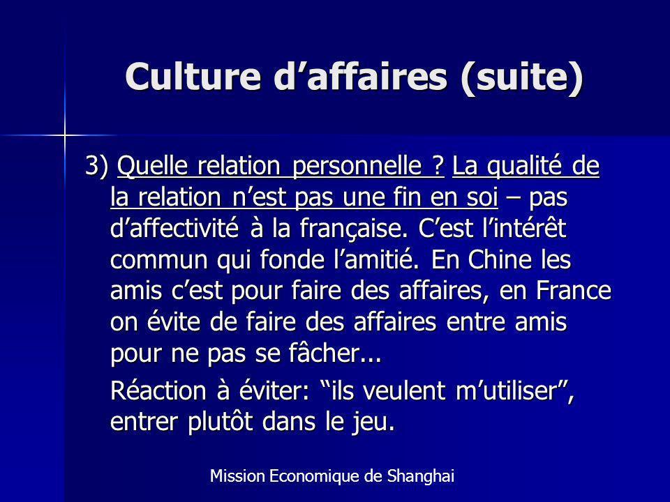 Culture d'affaires (suite)