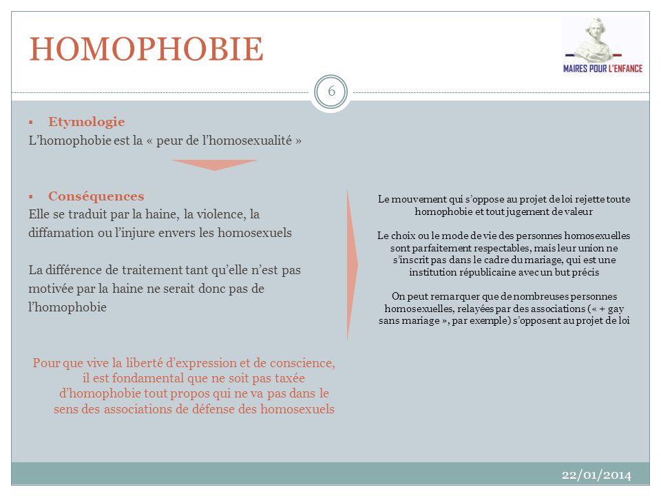 HOMOPHOBIE Etymologie L'homophobie est la « peur de l'homosexualité »
