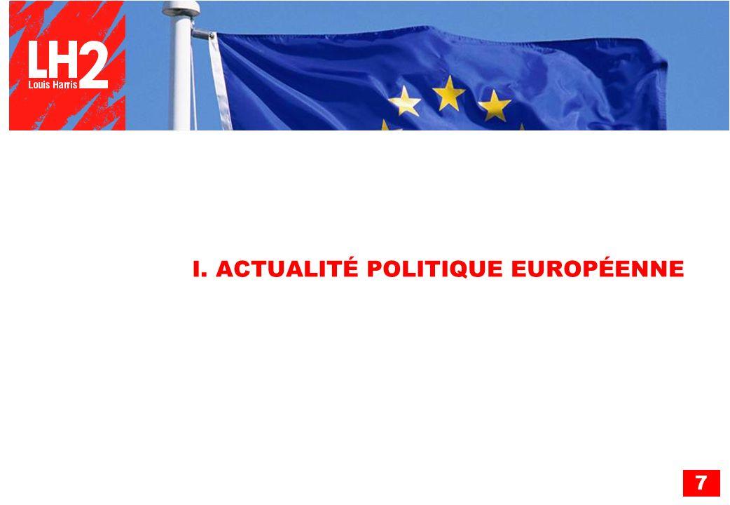 I. ACTUALITÉ POLITIQUE EUROPÉENNE