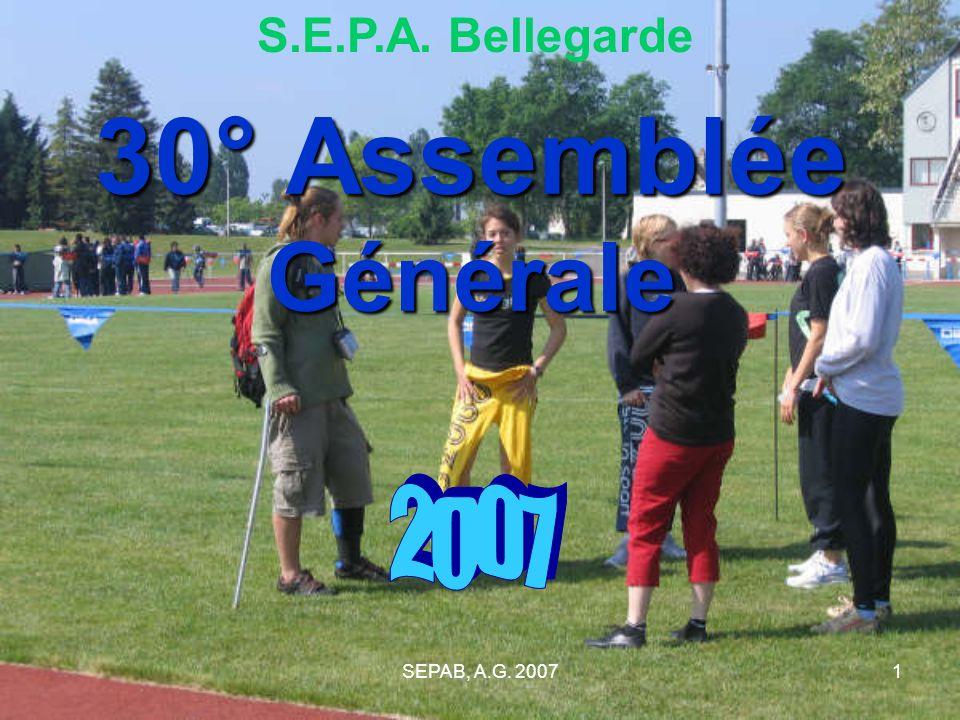 S.E.P.A. Bellegarde 30° Assemblée Générale 2007 SEPAB, A.G. 2007