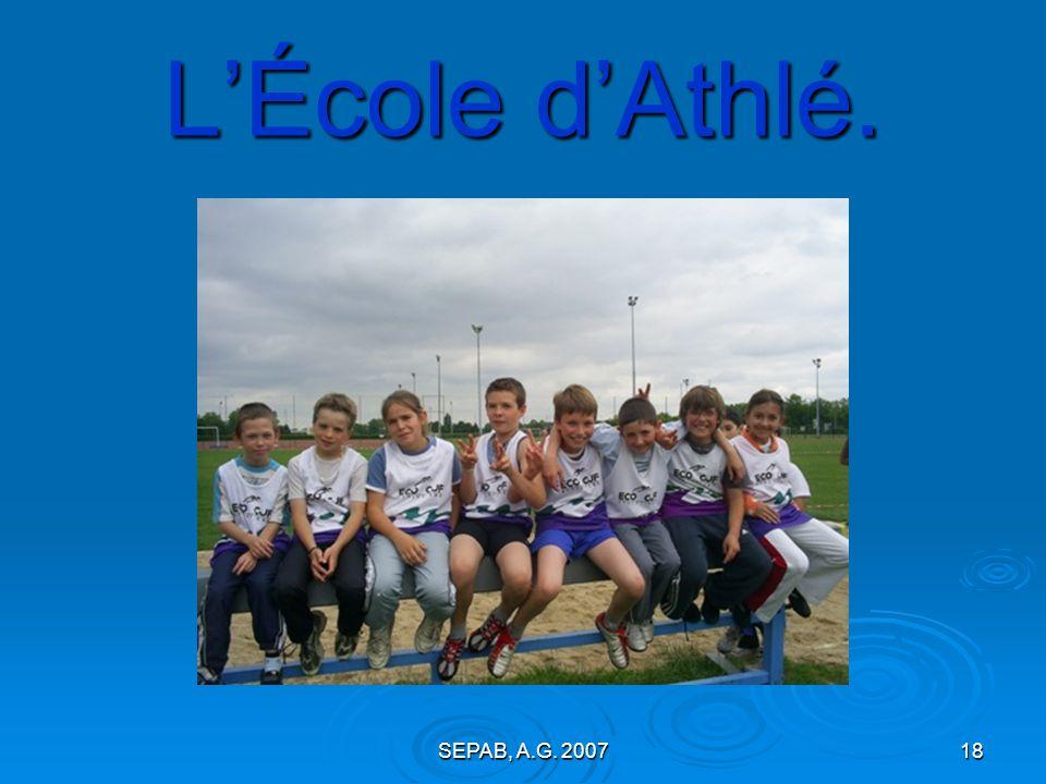 L'École d'Athlé. SEPAB, A.G. 2007