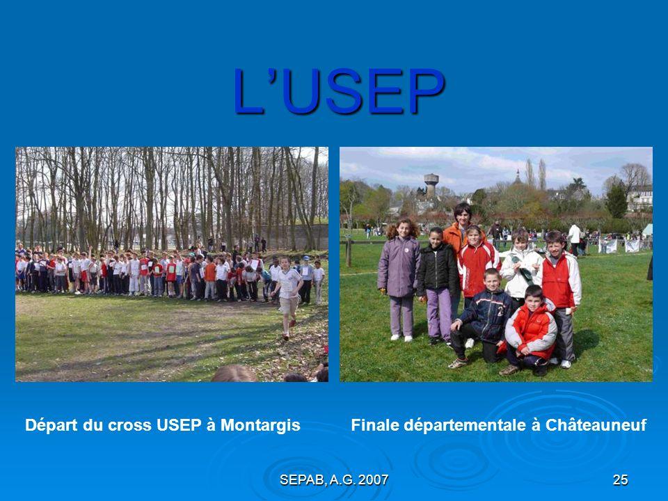 L'USEP Départ du cross USEP à Montargis