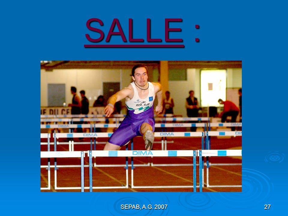 SALLE : SEPAB, A.G. 2007