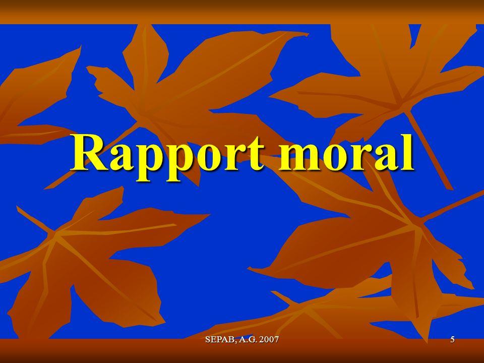 Rapport moral SEPAB, A.G. 2007