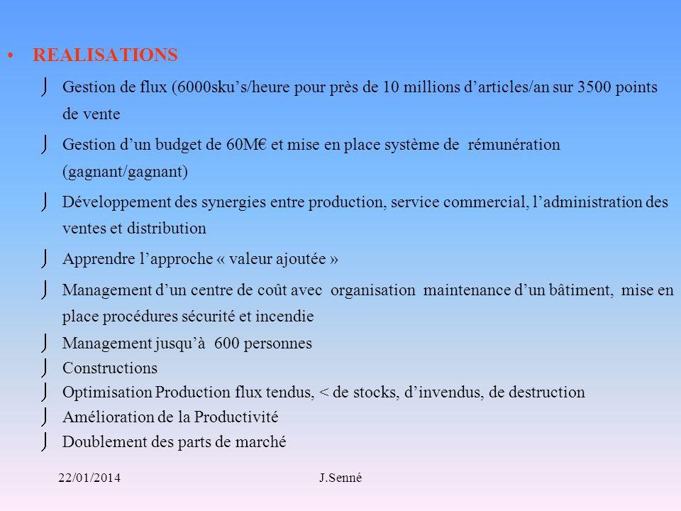REALISATIONS Gestion de flux (6000sku's/heure pour près de 10 millions d'articles/an sur 3500 points de vente.