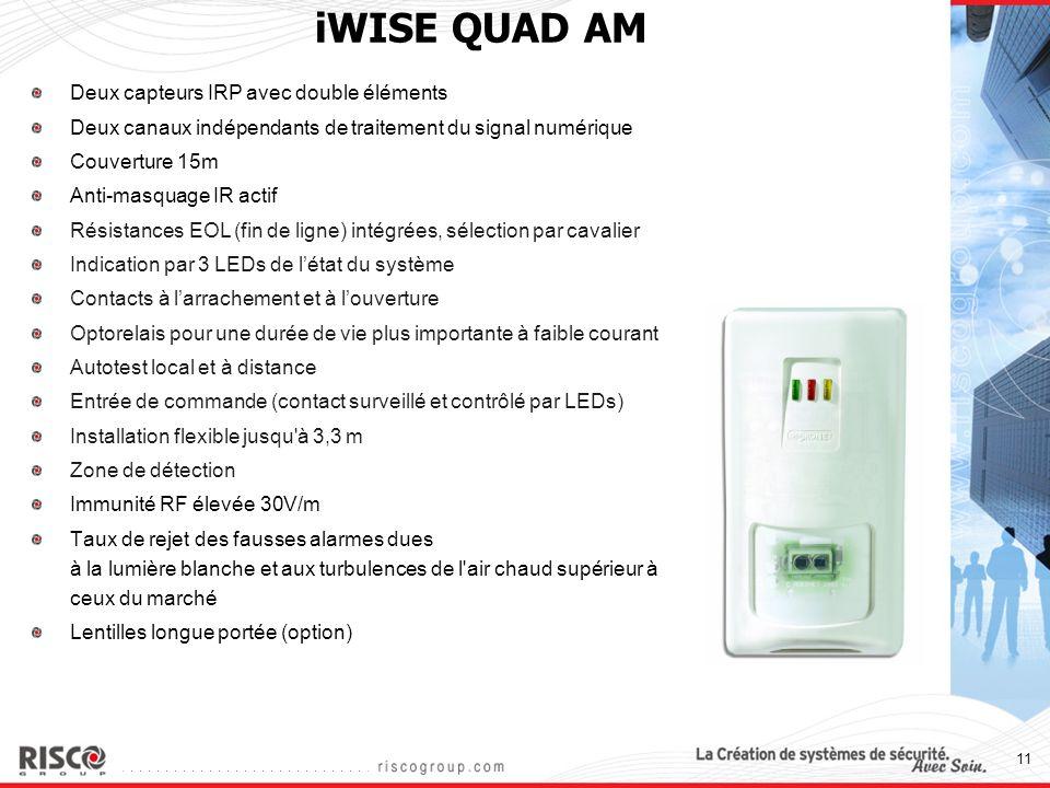 iWISE QUAD AM Deux capteurs IRP avec double éléments