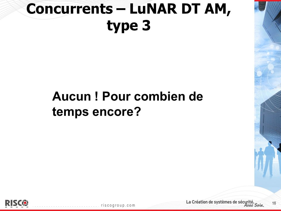 Concurrents – LuNAR DT AM, type 3