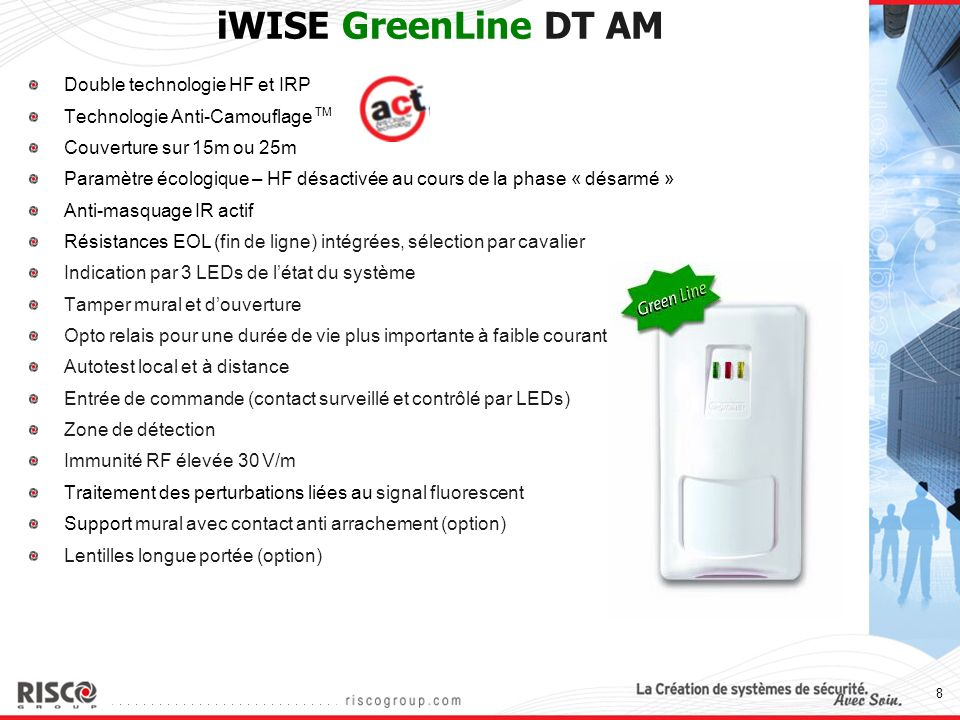 iWISE GreenLine DT AM Double technologie HF et IRP