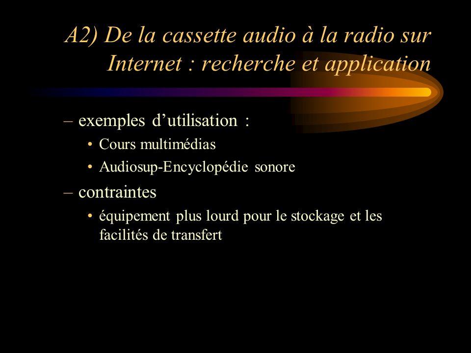 A2) De la cassette audio à la radio sur Internet : recherche et application