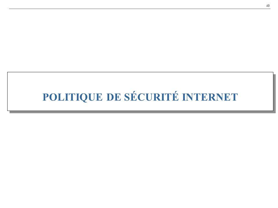 POLITIQUE DE SÉCURITÉ INTERNET