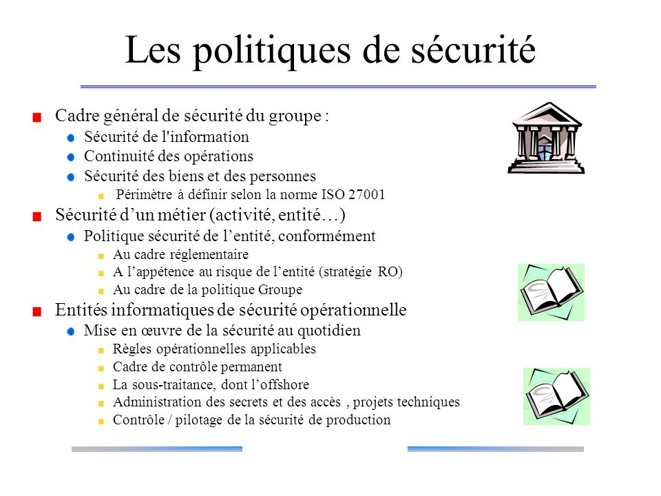 Les politiques de sécurité