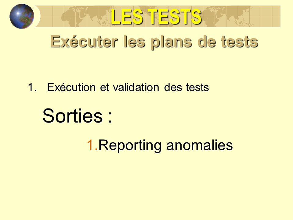 Exécuter les plans de tests