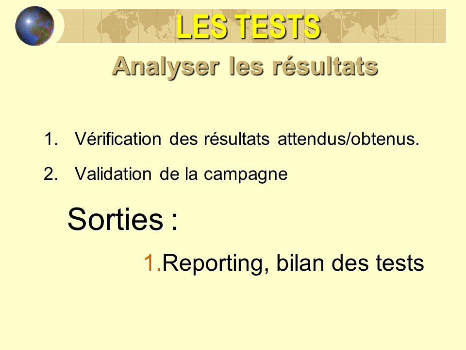 Analyser les résultats