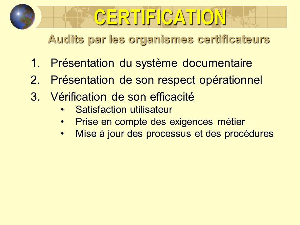 Audits par les organismes certificateurs