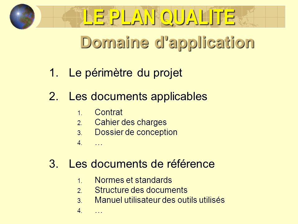 LE PLAN QUALITE Domaine d application Le périmètre du projet