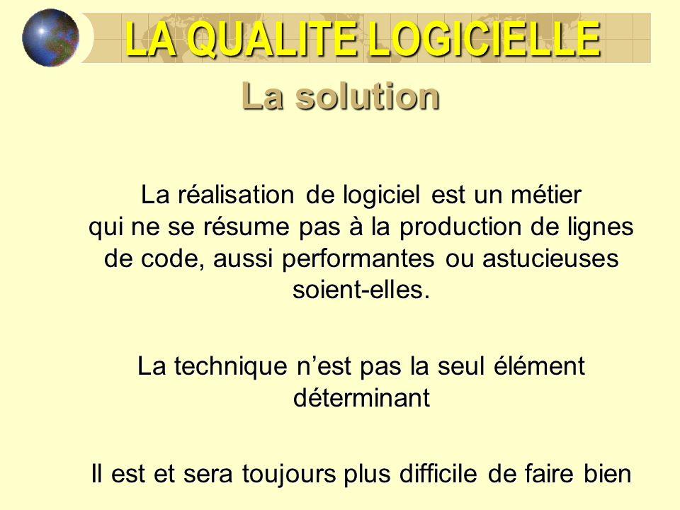 la qualite logicielle plan du cours la solution  u00bd h