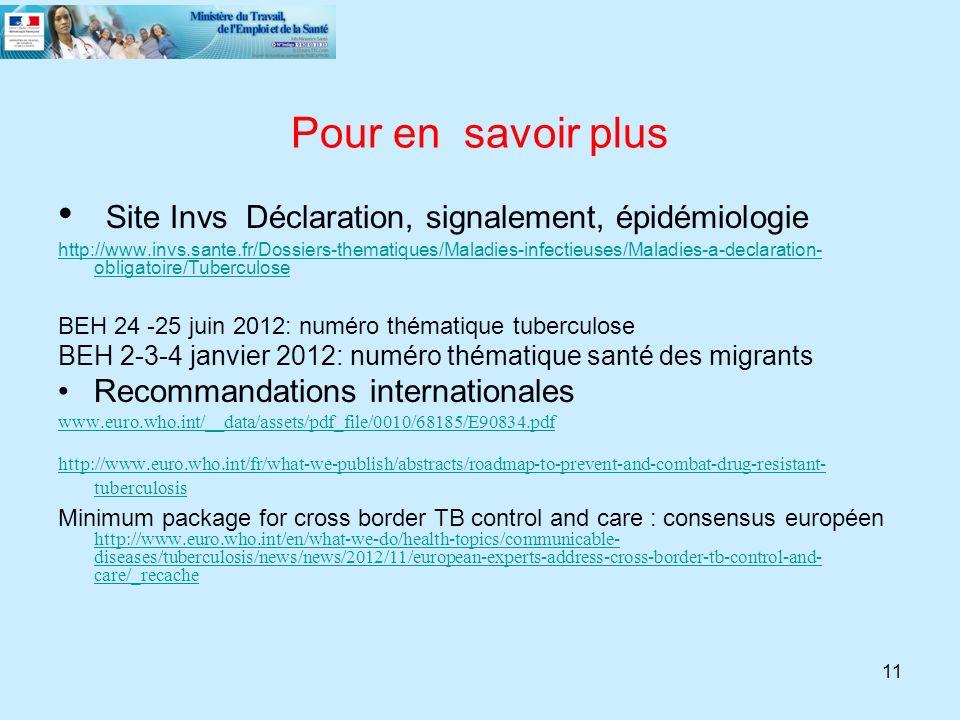 Site Invs Déclaration, signalement, épidémiologie