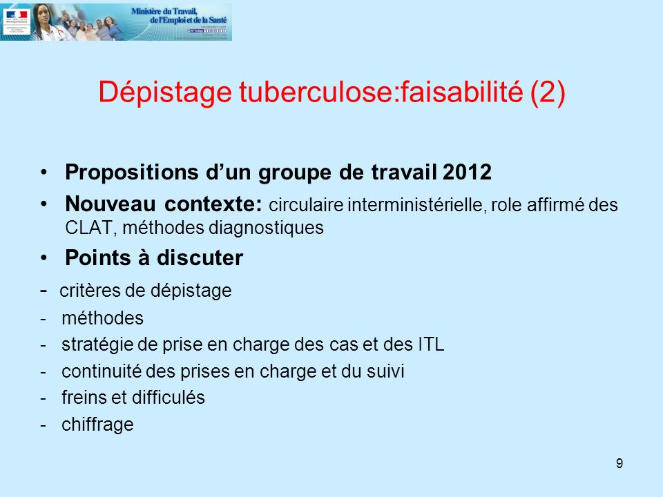 Dépistage tuberculose:faisabilité (2)