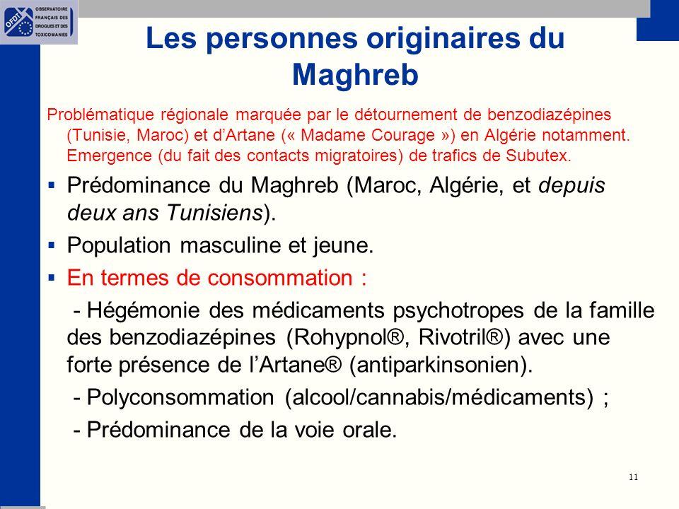 Les personnes originaires du Maghreb