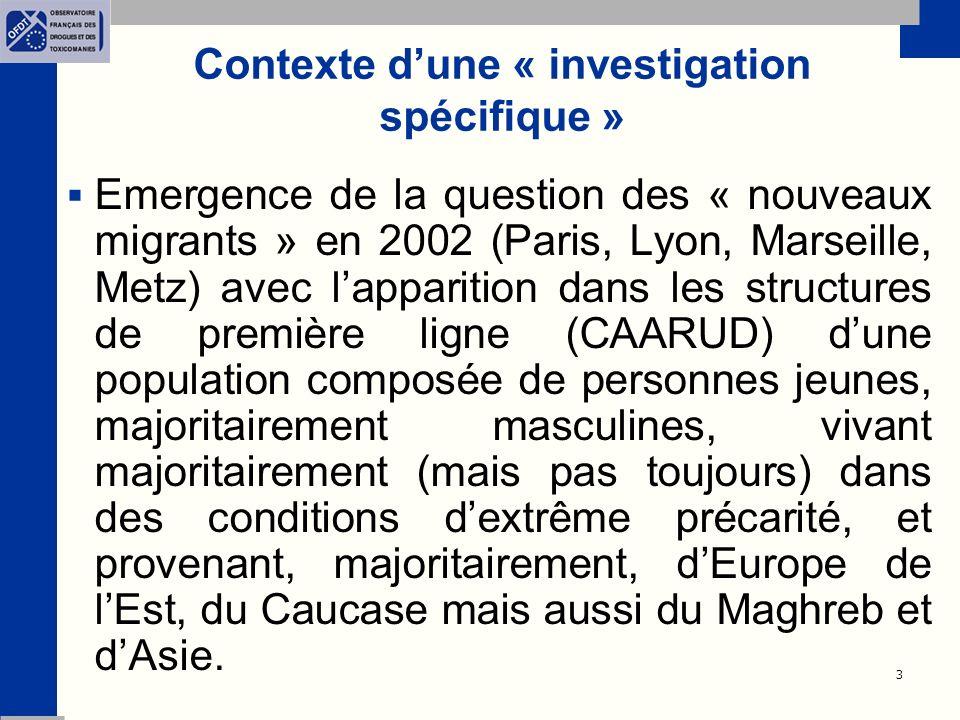 Contexte d'une « investigation spécifique »
