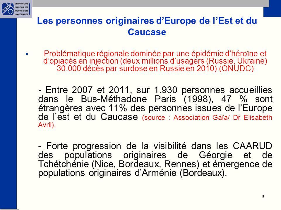 Les personnes originaires d'Europe de l'Est et du Caucase