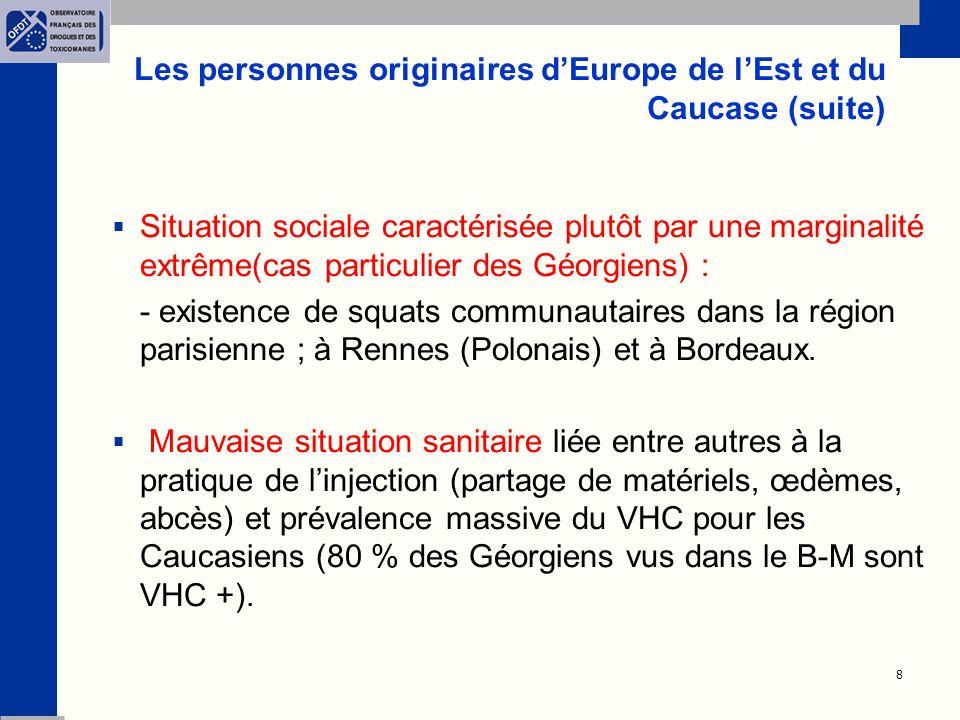 Les personnes originaires d'Europe de l'Est et du Caucase (suite)