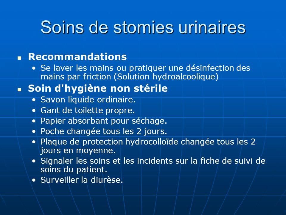 Soins de stomies urinaires