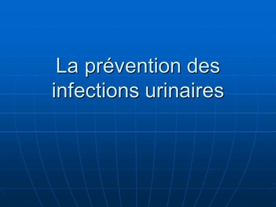 La prévention des infections urinaires