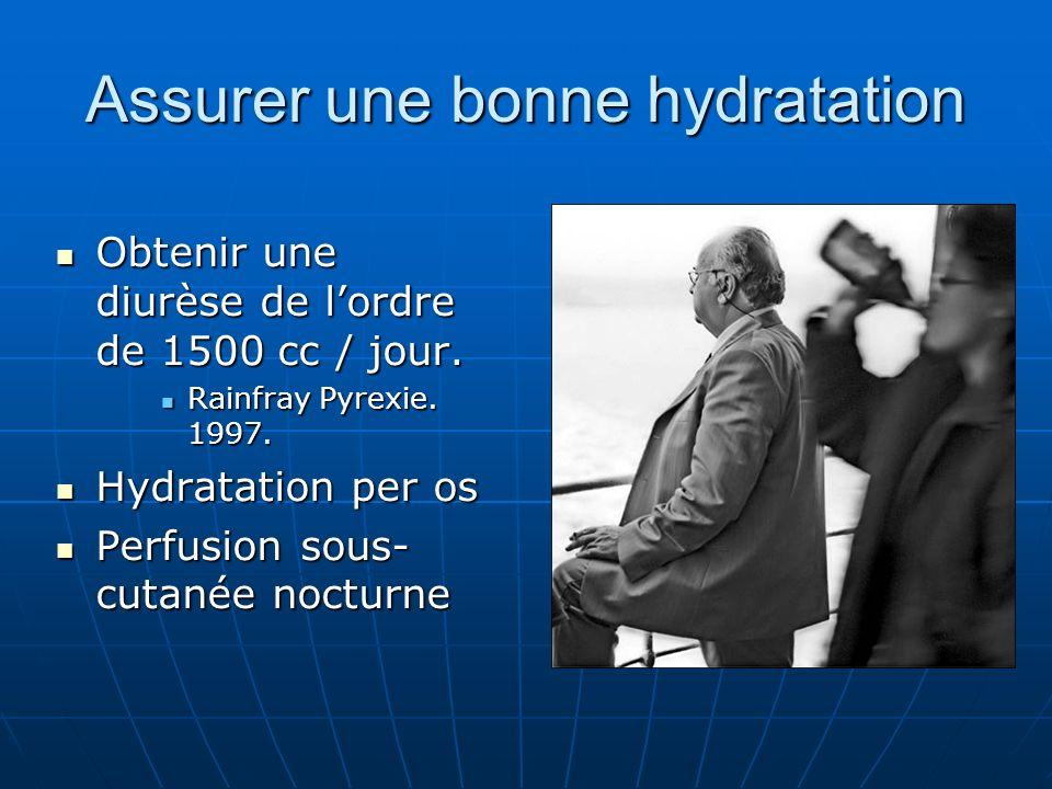 Assurer une bonne hydratation