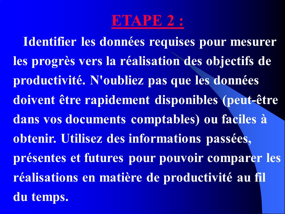 ETAPE 2 :
