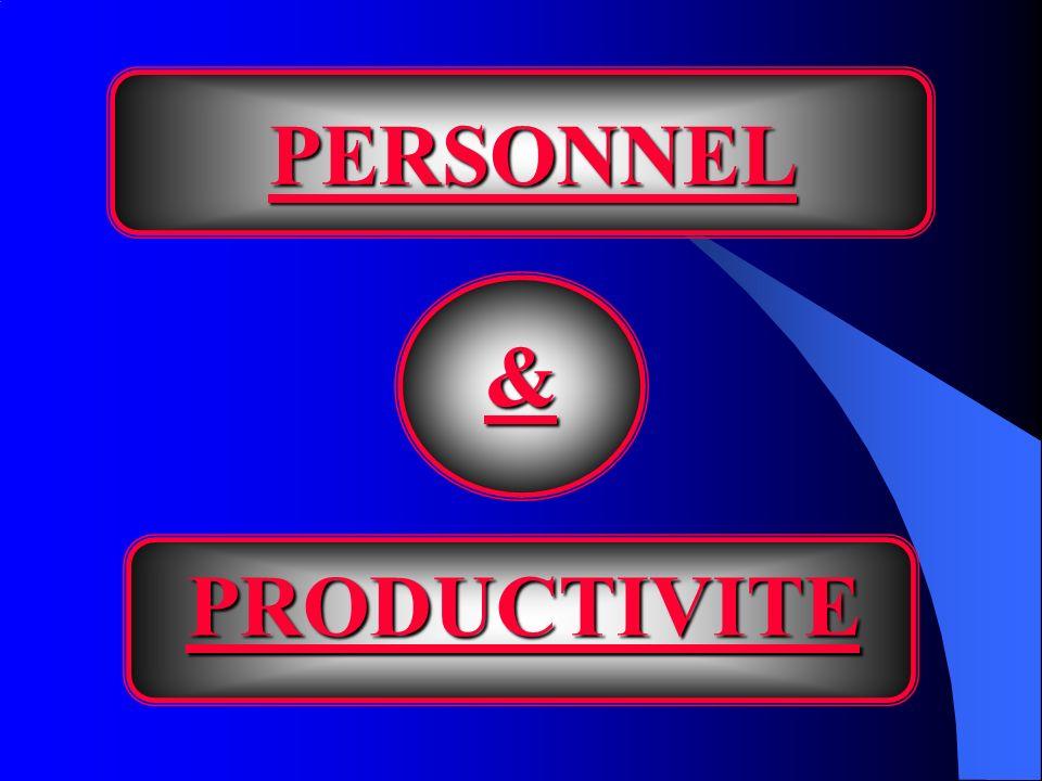 PERSONNEL & PRODUCTIVITE