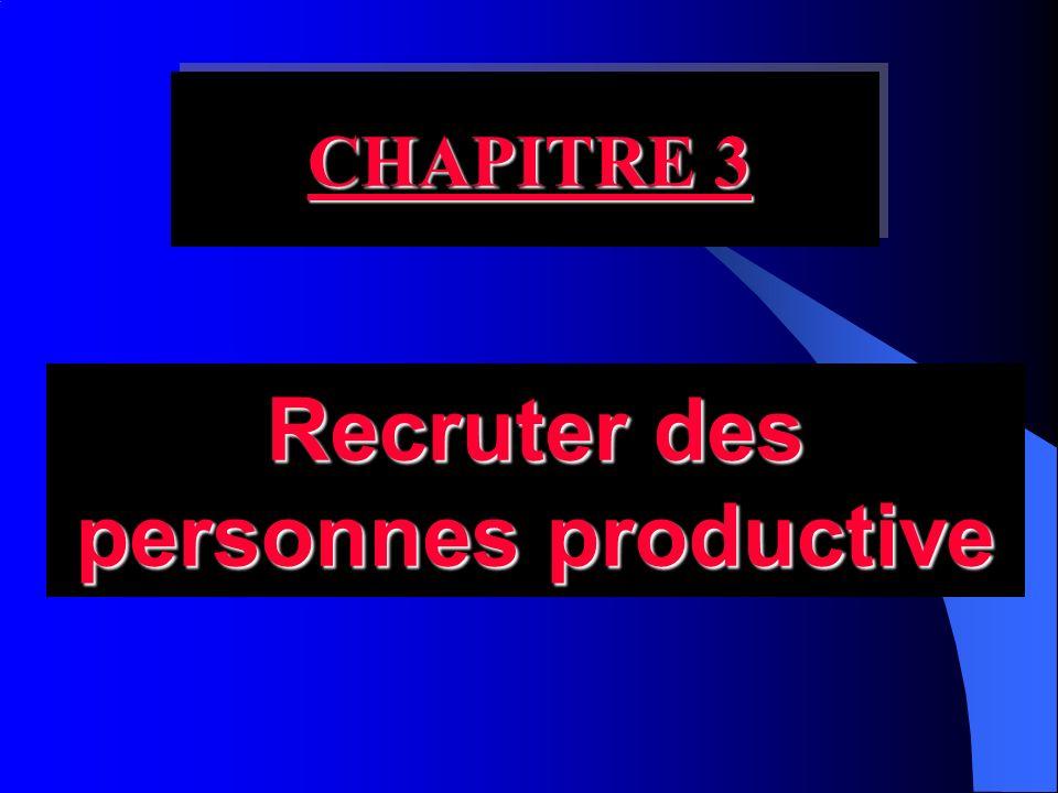 Recruter des personnes productive