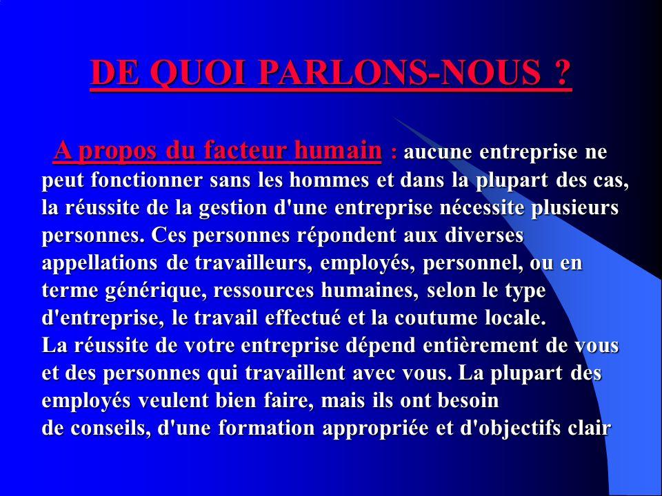 DE QUOI PARLONS-NOUS