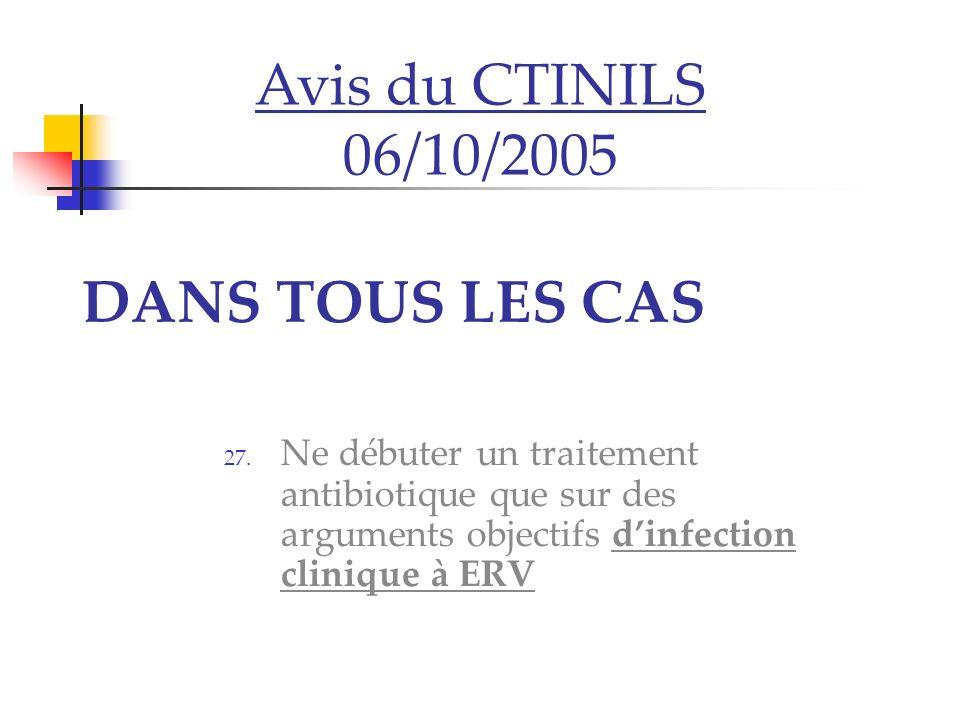 Avis du CTINILS 06/10/2005 DANS TOUS LES CAS